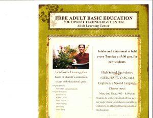 Free Adult Basic Education @ Southwest Technology Center